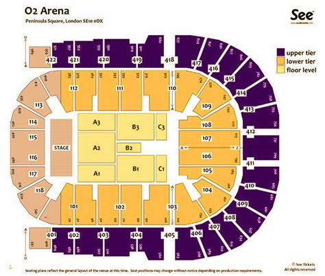 02 Arena London Boxing Seating Plan