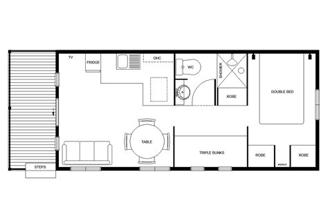 1 Bedroom Cabin Plans