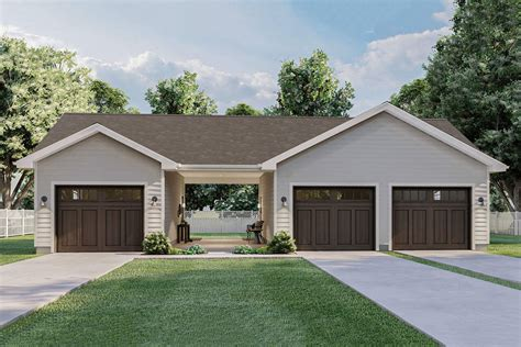 1 Car Garage With Carport Plans