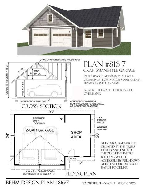 1-Car-Garage-Shop-Plans