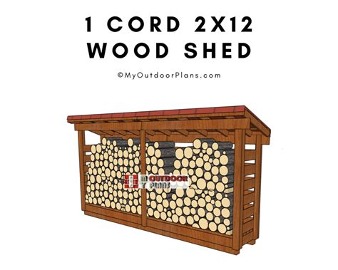 1-Cord-Firewood-Shed-Plans
