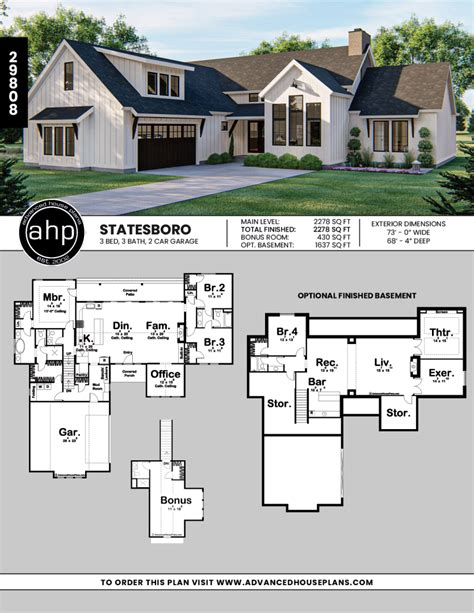 1-Story-Farmhouse-Floor-Plans