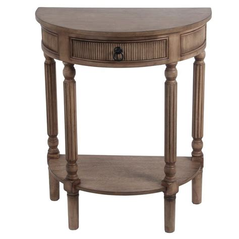 1 Drawer Half Round End Table Image