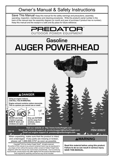 1.5 hp gasoline auger powerhead with 4 in bit pdf manual