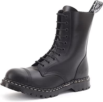 10 Eyelet Steel Toe Boot Made in UK