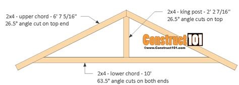 10 Foot Roof Truss Plans