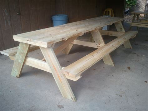 10 Ft Picnic Table Plans With Benches