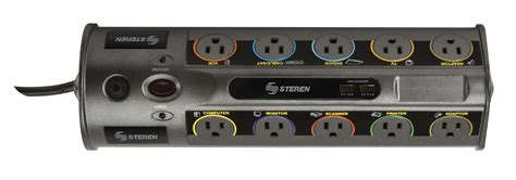 10 Outlet Home Theater Surge Protector Strip with 2 USB 2100 Joules