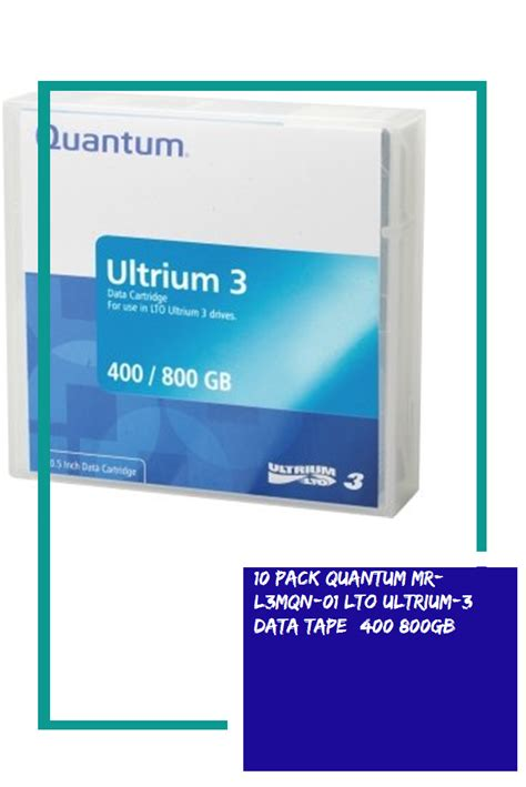 10 Pack Quantum MR-L3MQN-01 LTO Ultrium-3 Data Tape (400/800GB)
