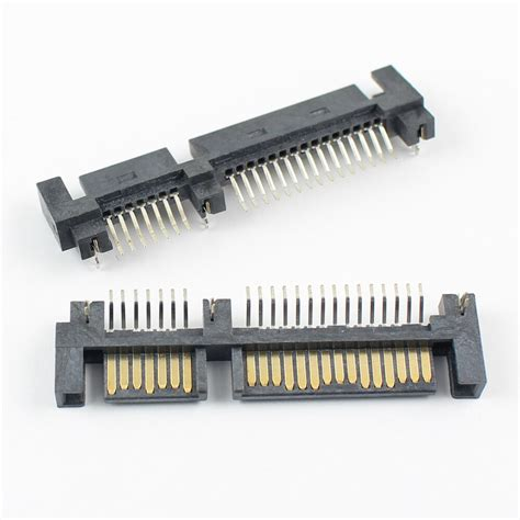 10 Pcs - SATA III Cable 22 Pin Female to 7 Pin Female Data Cable + 4 Pin Male Power Cable HDD