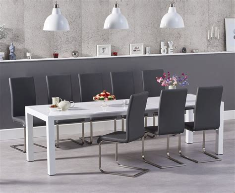 10 Seater White Dining Table And Chairs