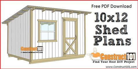 10 X 12 Lean To Shed Plans