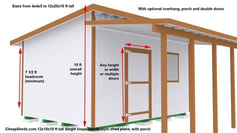 10 X 16 Lean To Roof Plans