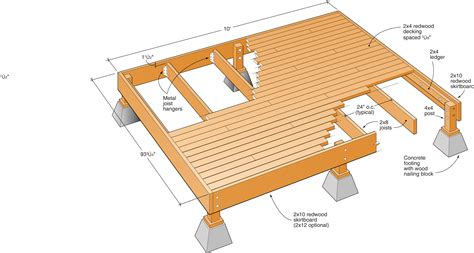 10 X 8 Floating Deck Plans
