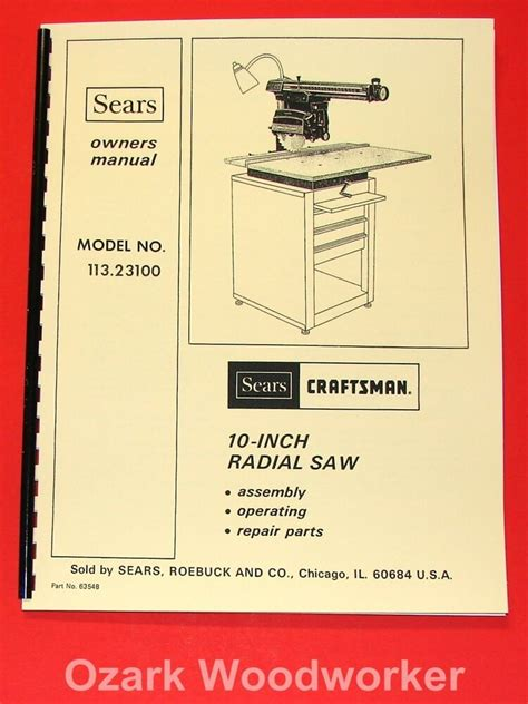 10 craftsman radial arm saw pdf manual