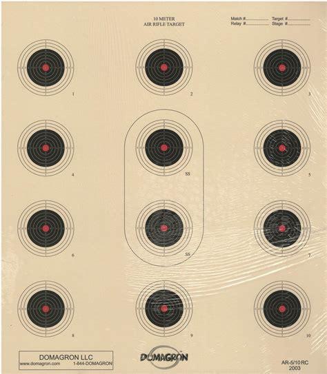 10 Meter Air Rifle Target 1-bull