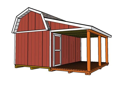 10-16-Barn-Shed-With-Porch-Plans