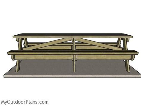 10-Foot-Long-Picnic-Table-Plans