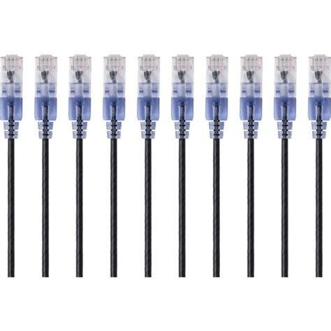 10-Pack SlimRun Cat6A Ethernet Network Patch Cable 7ft Blue