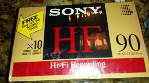 10-Pack Sony Hi-Fi C-90HF Cassette Tapes (Type 1, Normal Bias 120EQ) + Extra Included Sony UX-90 Cassette
