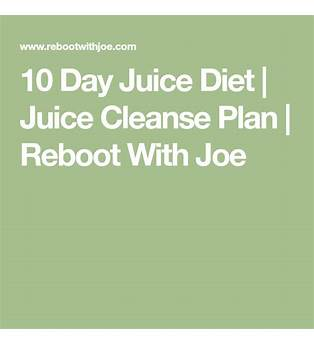10 Day Juice Cleanse Plan