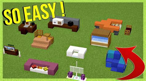 10 easy furniture ideas minecraft Image