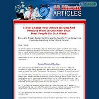 10 minute articles write unique articles fast! promotional codes