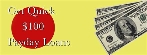 100 Dollar Payday Loan