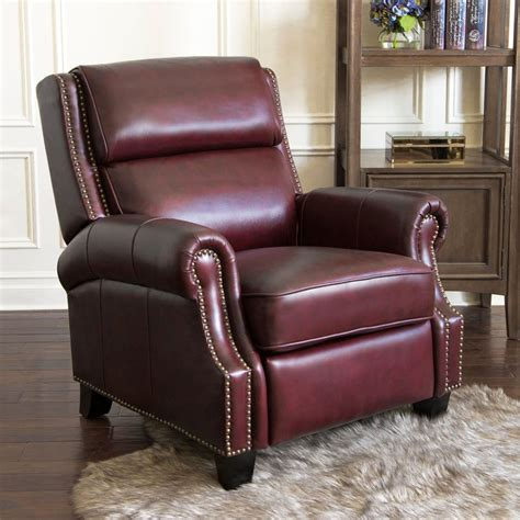 100 Leather Burgundy Recliner