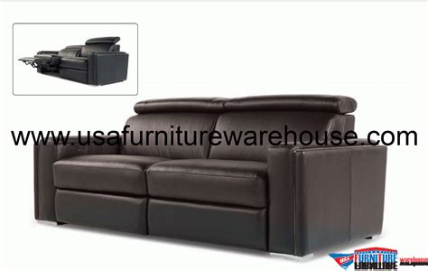 100 Leather Reclining Sofa