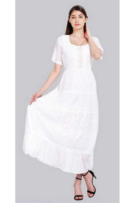 100 Cotton White Dress