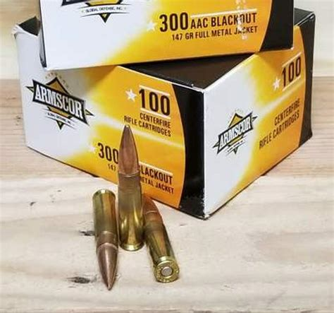 100 Rounds 300 Blackout Amm And 300 Aac Blackout 123grain Fmj Ammo