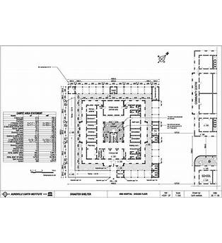 100 Bed General Hospital Floor Plan