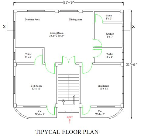 1000 House Autocad Plans Free Download