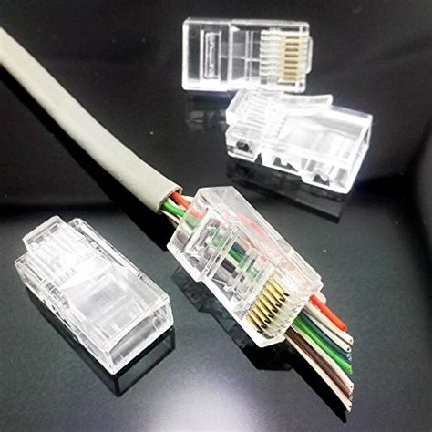 1000 Piece/Pack UTP Cat 5e Plug 8P8C for network cable,telephone cable,Ethernet Cable