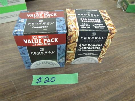 1000 Rounds Of 22 Long Rifle Ammo