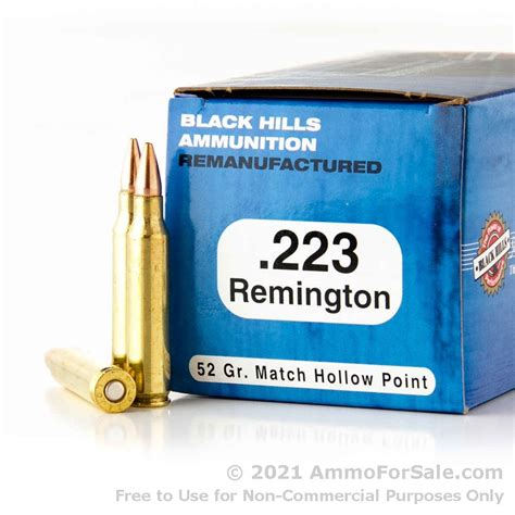 1000 Rounds Of 223 Ammo By Black Hills Remanufactured