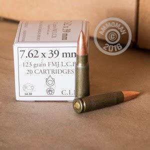 1000 Rounds Of 7 62x39 123 Grain Wolf White Box FMJ Ammo