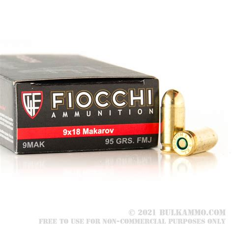 1000 Rounds Of 95gr FMJ 9x18mm Makarov - Ammo For Sale