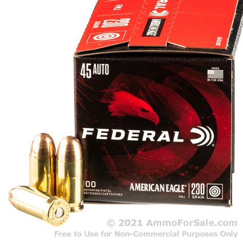 1000 Rounds Of Bulk 45 Acp Ammo By Federal 230gr Fmj