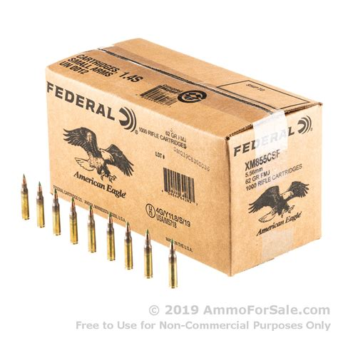 1000 Rounds Of Bulk 5 56x45mm Ammo By Lake City 62gr Fmj