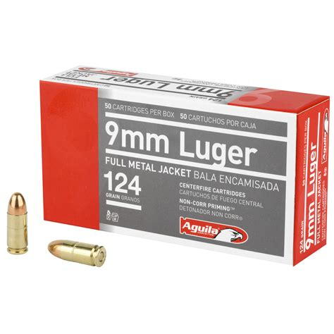 1000 Rounds Of Bulk 9mm Ammo By Aguila - 124gr FMJ
