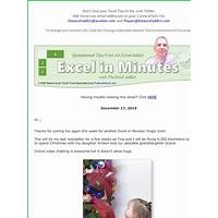 Cash back for 101 secrets of a microsoft excel addict
