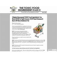 101 toxic food ingredients new conversion breakthrough scam?