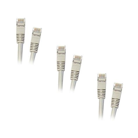 10FT CAT5E Grey Stp Molded Boot Cable 350MHZ High Performance