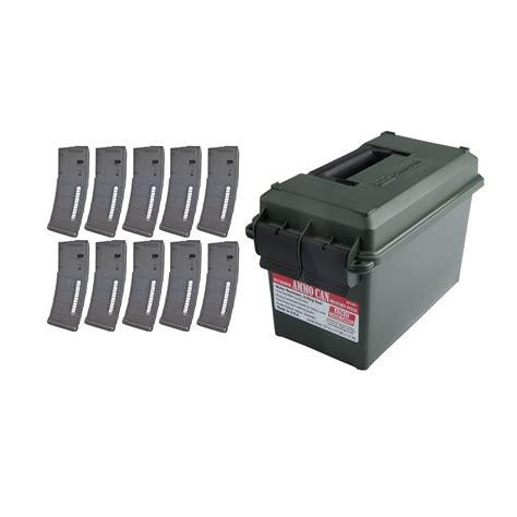 10pk Ammo Brownells Pmags Can 30rd W