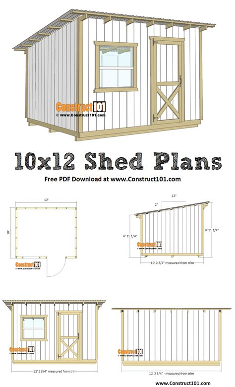 10x12 Storage Shed Plans With Material List