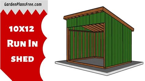 10x12-Run-In-Shed-Plans