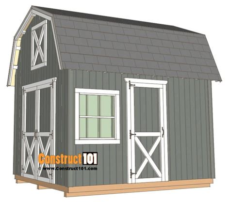 10x12 barn shed plans Image