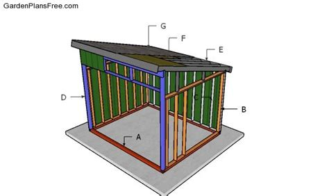10x12 run in shed plans free Image